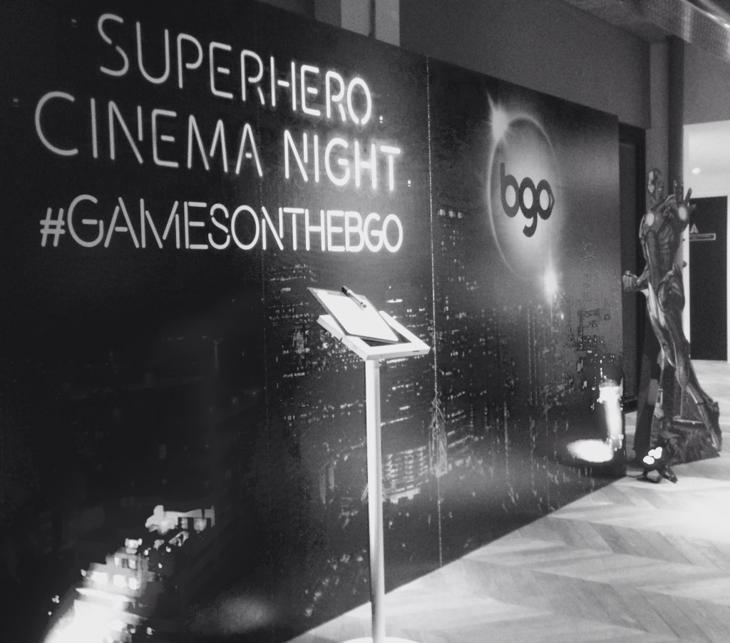Superhero Cinema Night #GamesontheBGO