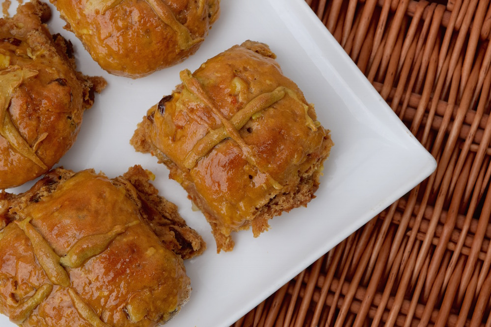 Dulce De Leche & Chestnut Puree Hot Cross Buns Recipe