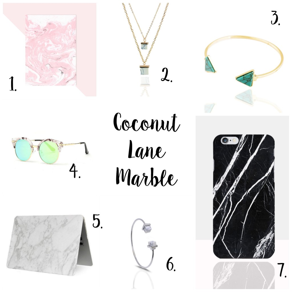 My Favourite Marble Accessories from Coconut Lane