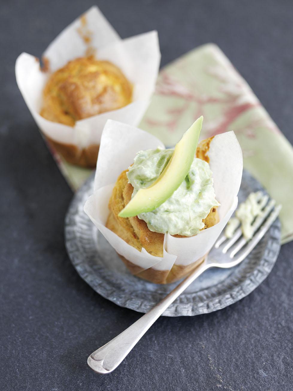 Savoury Hass Avocado Muffins