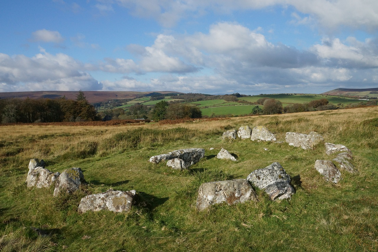 Dartmoor Stone Circle Cistvaen National Park