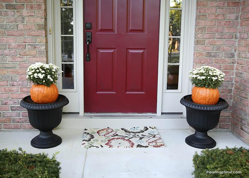 DIY-faux-pumpkin-flower-pot-1