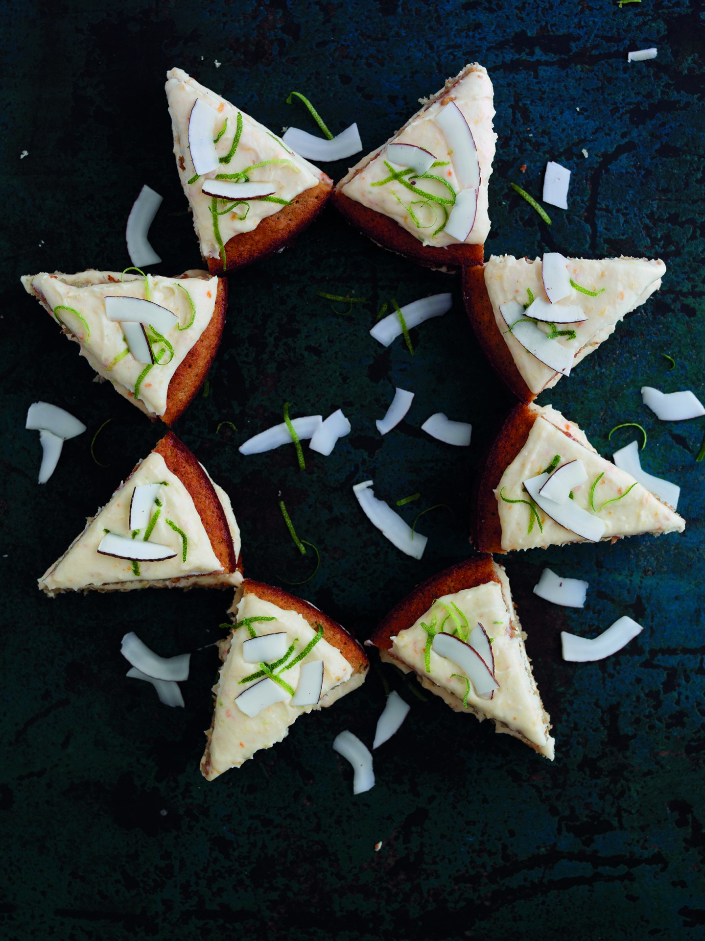 PERSIMON, LIME & COCONUT STAR CAKE