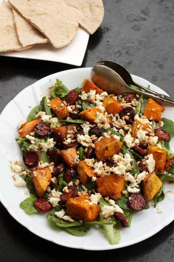 pumpkin-chorizo-feta-salad
