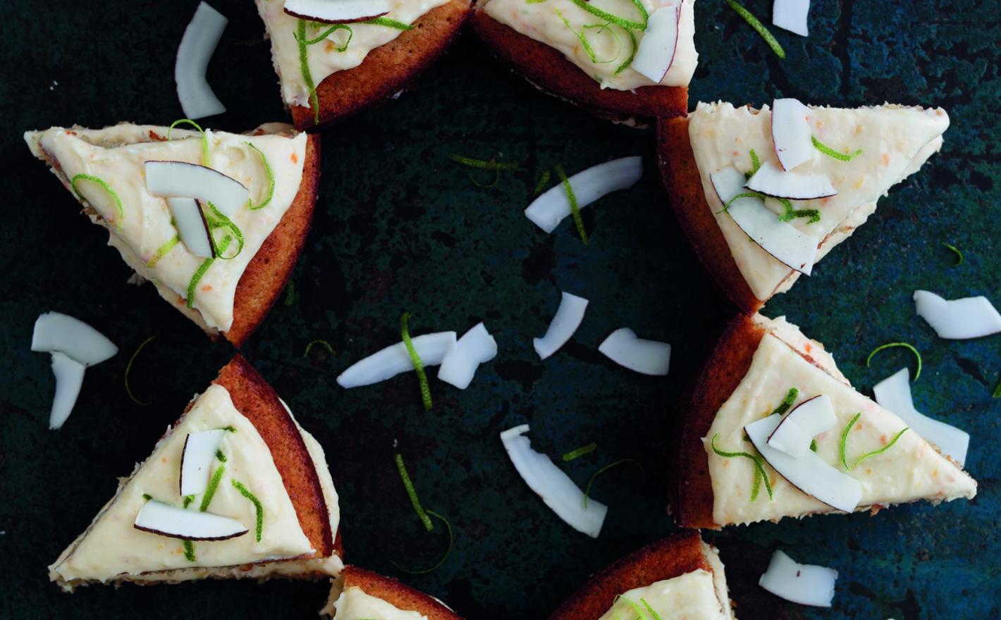 Persimon, Lime & Coconut Cake