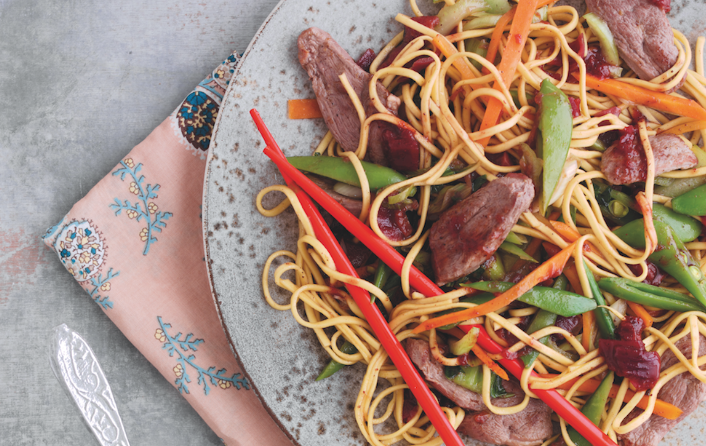 Plum Sauce with Duck Stir-Fry Recipe