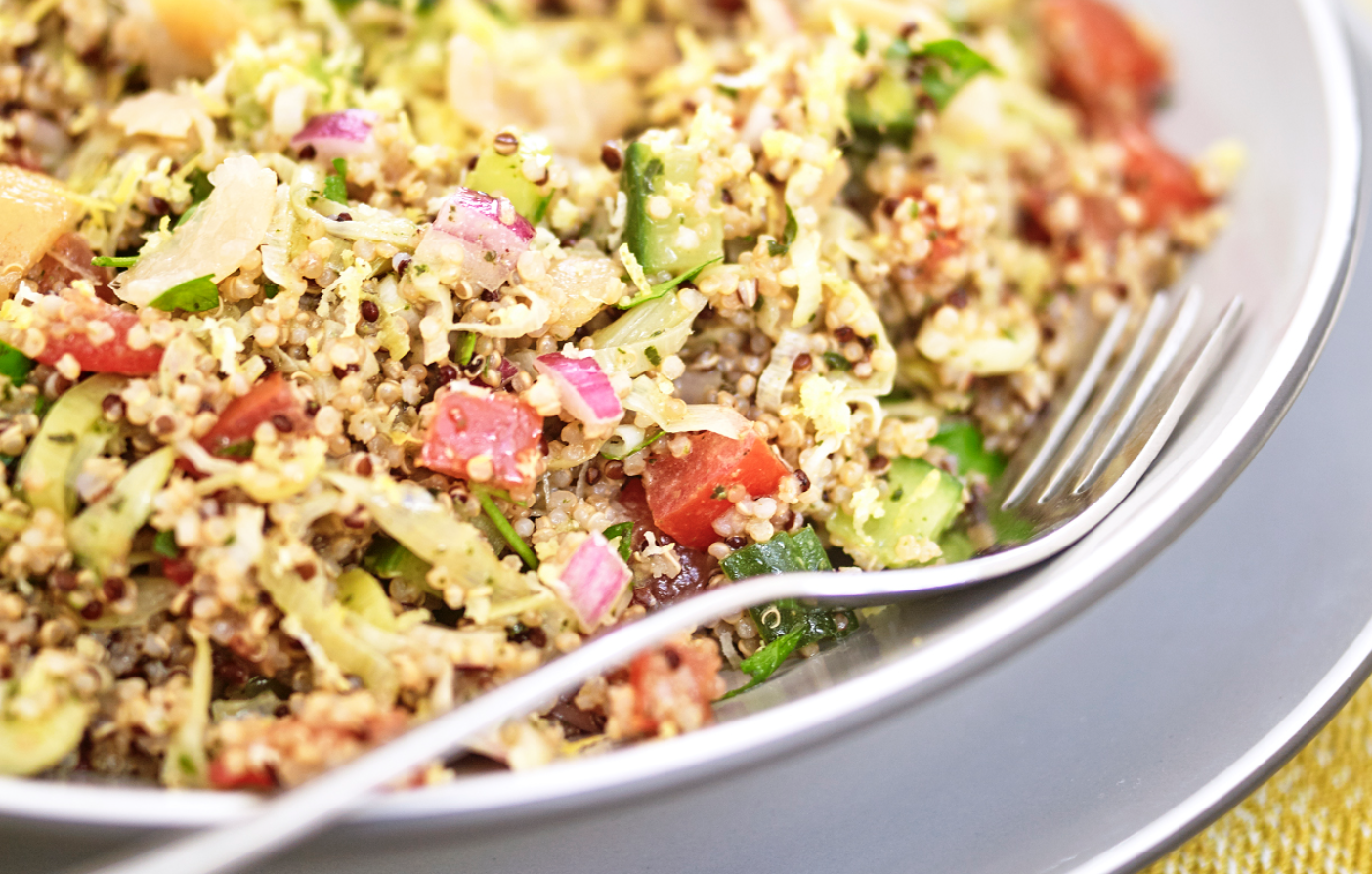 Quinoa Tabbouleh with Shredded Leeks and Preserved Lemon