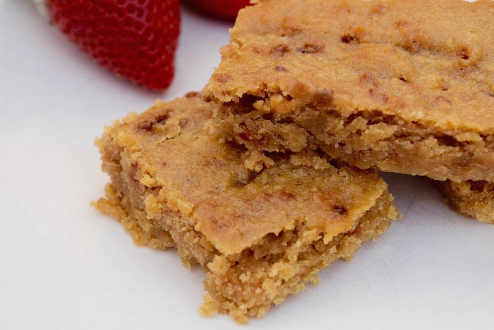 Nut Butter & Strawberry Blondies