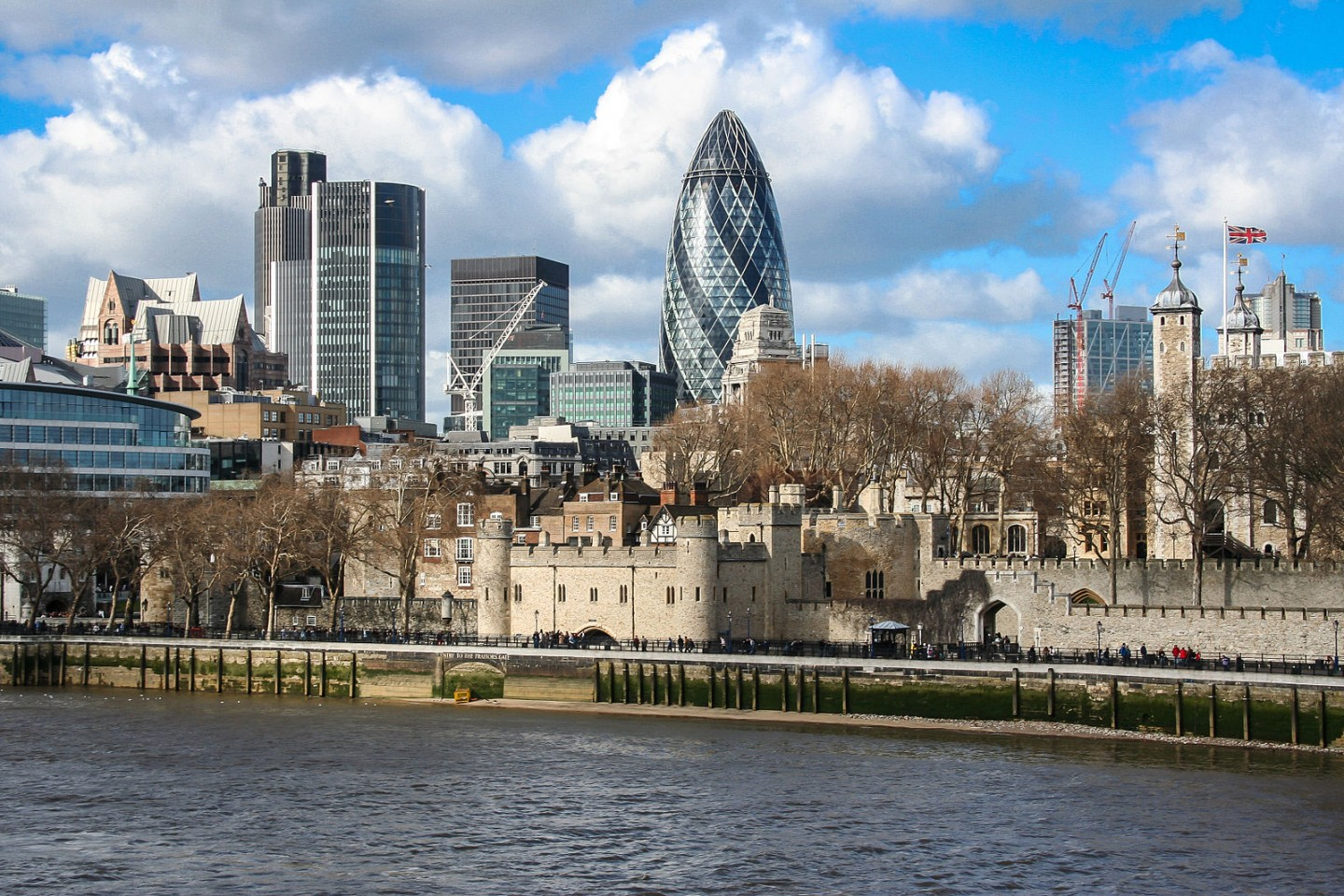 City_of_London_Tower_of_London_and_30_St_Mary_Axe_view_from_Tower_bridge