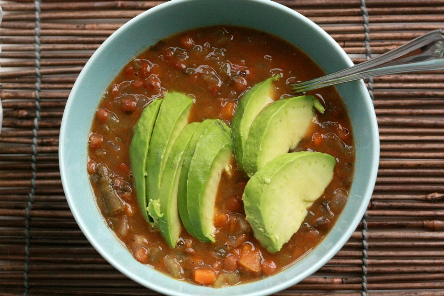 Lentil_and_vegetable_soup_with_avocado_(6964882187)