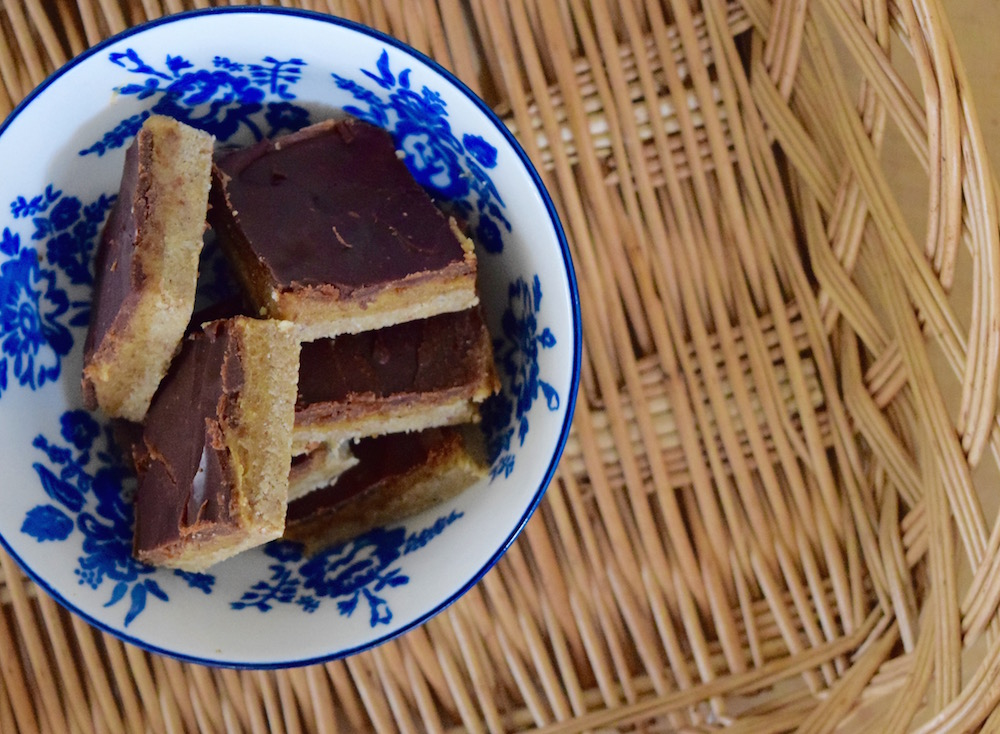 Raw Chocolate Caramel Slices Recipe