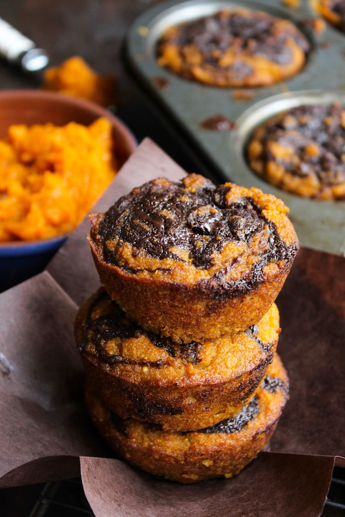 Paleo-Pumpkin-Muffins-with-a-Chocolate-Swirl
