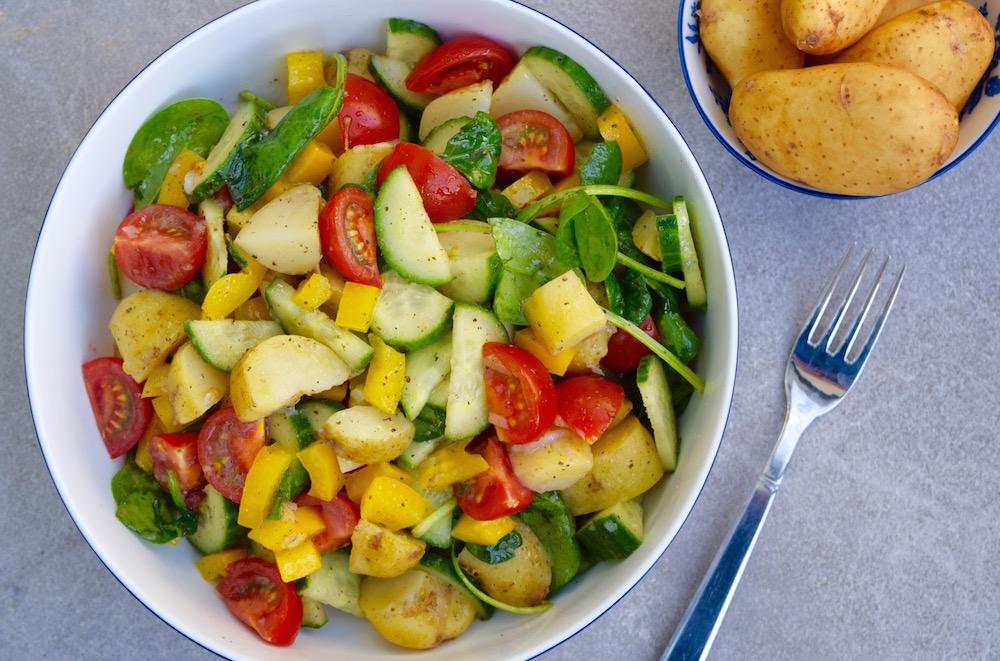 Rainbow and Tesco Jersey Royal New Potato Salad