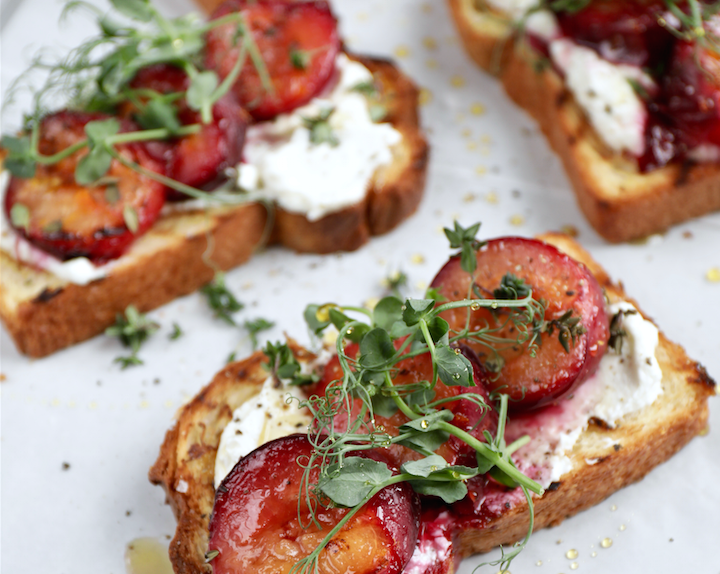 Orange, Thyme & South African Plums Toasted Brioche