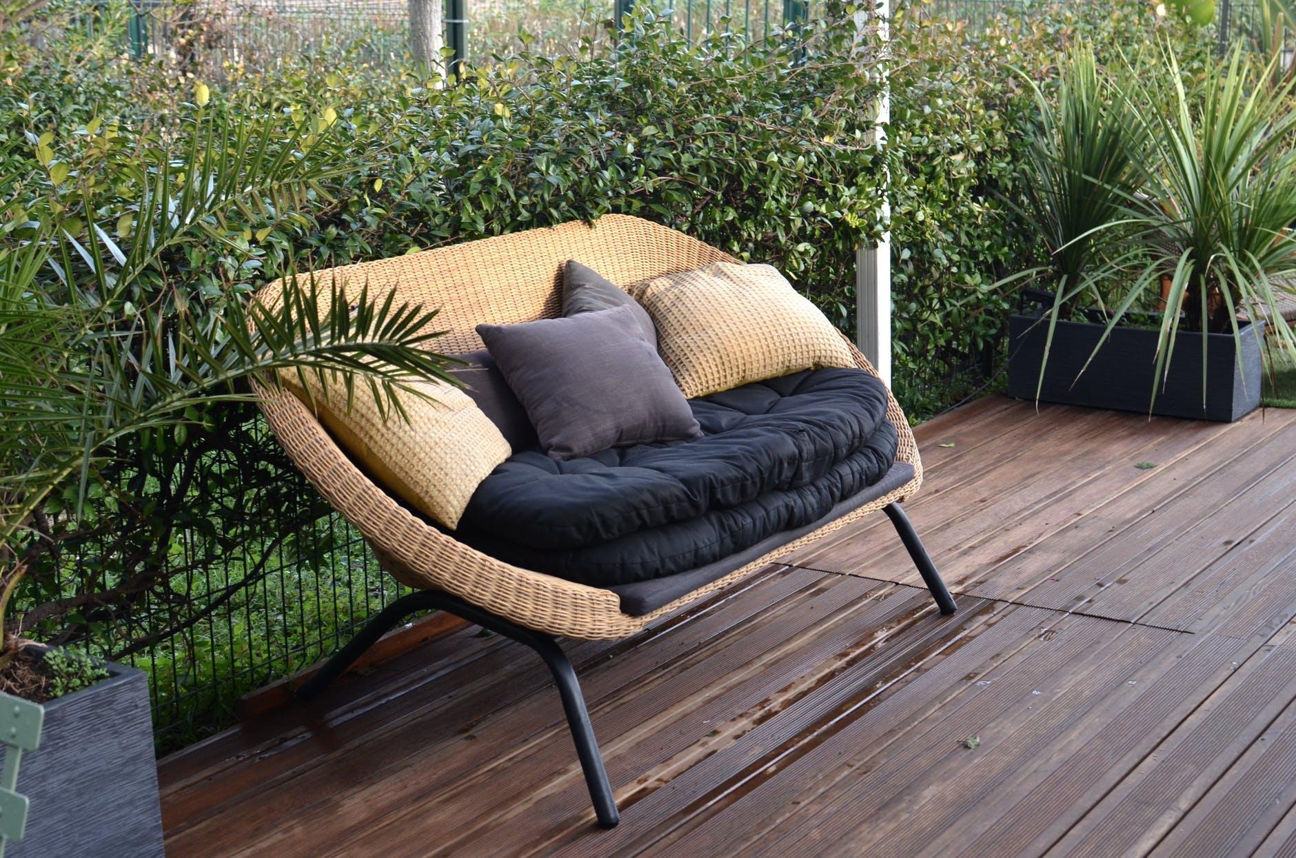 wood relaxation summer garden