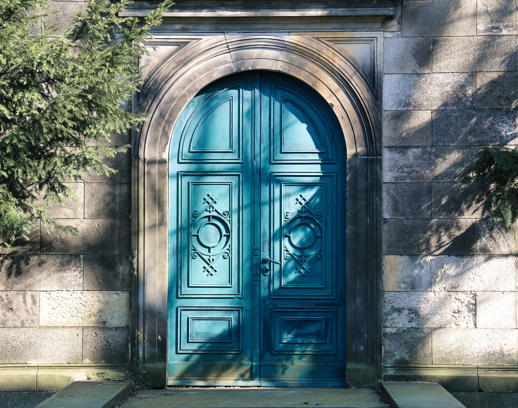 arch architecture art blue