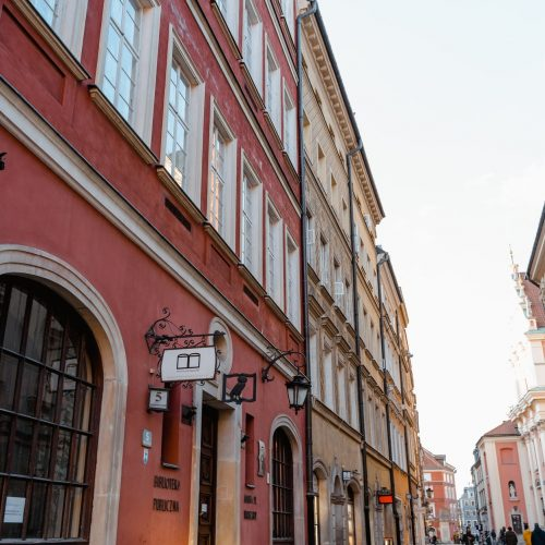 old buildings along a street